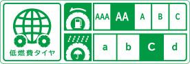 低燃費タイヤ 転がり抵抗性能:AA ウエットグリップ性能:c
