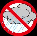 タイヤの保管のコツその1:雨および水分からタイヤを守りましょう!