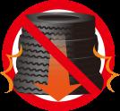 タイヤの保管のコツその5:変形からタイヤを守りましょう!